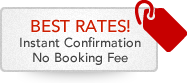 Instant Confirmation. No booking fee. Best rates!